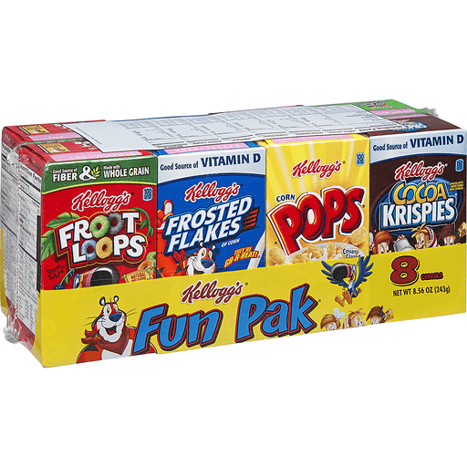 Kelloggs Cereals, Assorted, Fun Pack