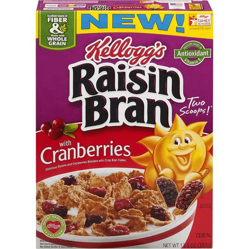 Raisin Bran Cereal, with Cranberries