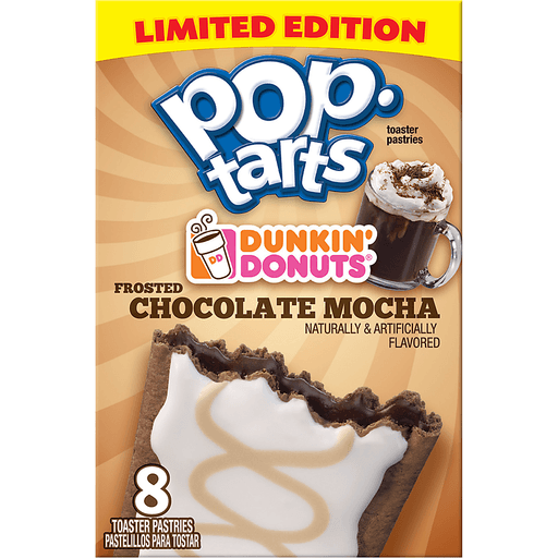 Pop Tarts Toaster Pastries, Dunkin Donuts Frosted Chocolate Mocha
