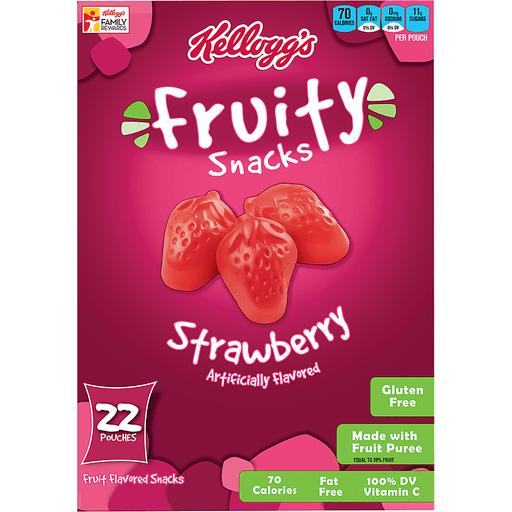 Kelloggs Fruity Snacks Fruit Flavored Snacks, Strawberry