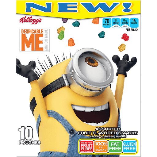 Kellogg's® Despicable Me Minion Made™ Assorted Fruit Flavored Snacks 10 ct Box