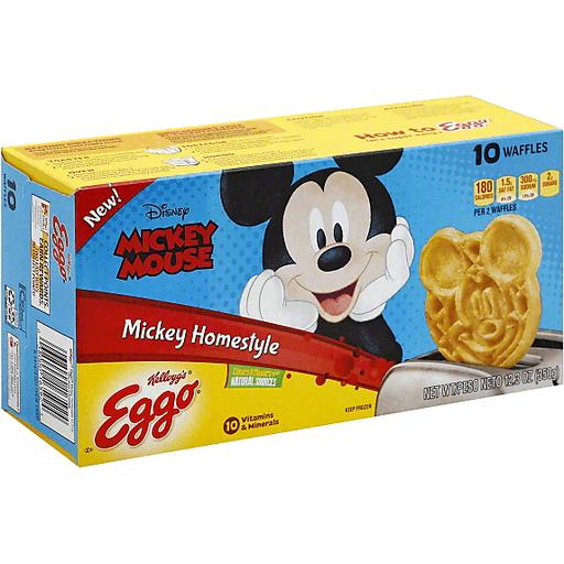 Eggo Waffles, Mickey Homestyle, Mickey