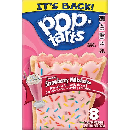 Pop Tarts Toaster Pastries, Frosted, Strawberry Milkshake