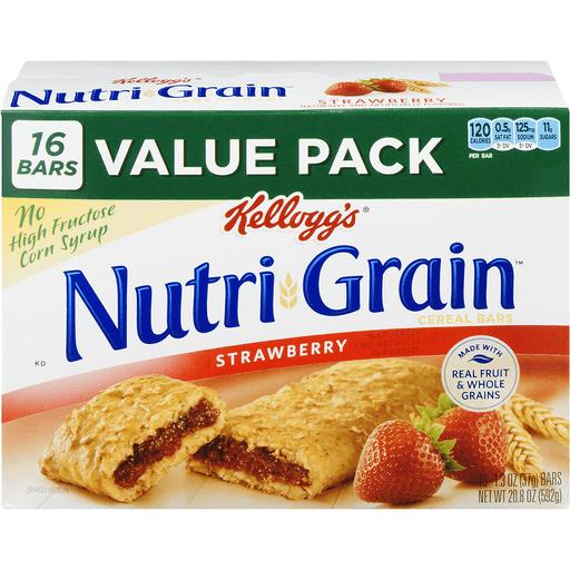Nutri Grain Bars, Soft Baked, Strawberry, Value Pack
