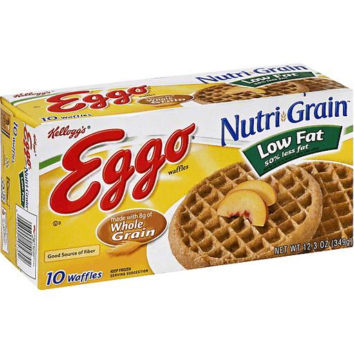 Eggo Waffles, Nutri-Grain Low Fat