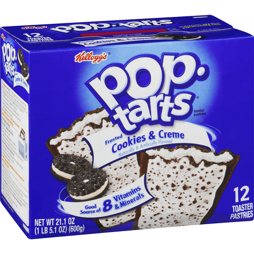 Pop-Tarts Breakfast Toaster Pastries, Frosted Cookies and Creme Flavored, 21.1 oz (12 Count)