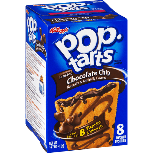 Pop Tarts Toaster Pastries, Frosted, Chocolate Chip