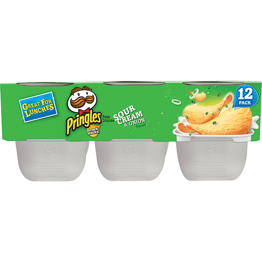 Pringles Snack Stacks! Potato Crisps, Sour Cream & Onion Flavored, 12 Pack