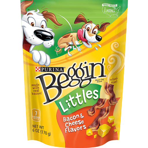 Beggin Littles Dog Snack, Bacon & Cheese Flavors