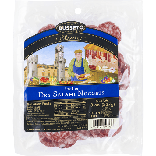 Busseto Foods Classico Dry Salami Nuggets
