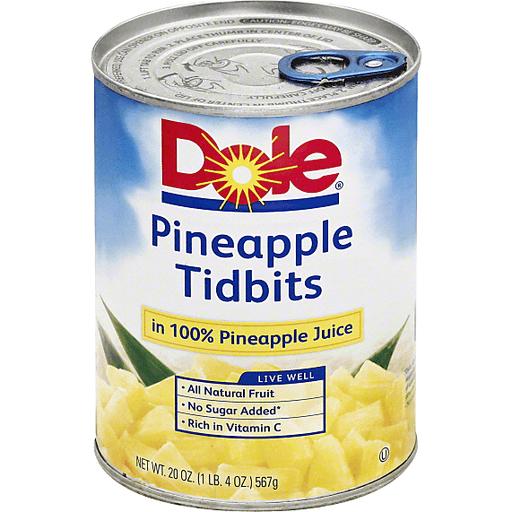 Dole Pineapple, in 100% Pineapple Juice