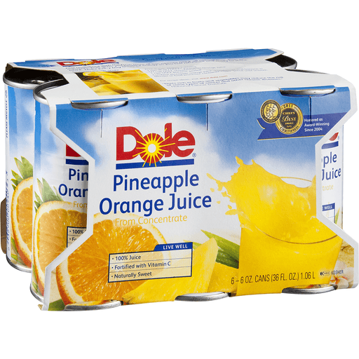 Dole 100% Juice, Pineapple Orange