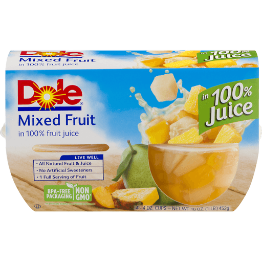 Dole Mixed Fruit, in 100% Juice