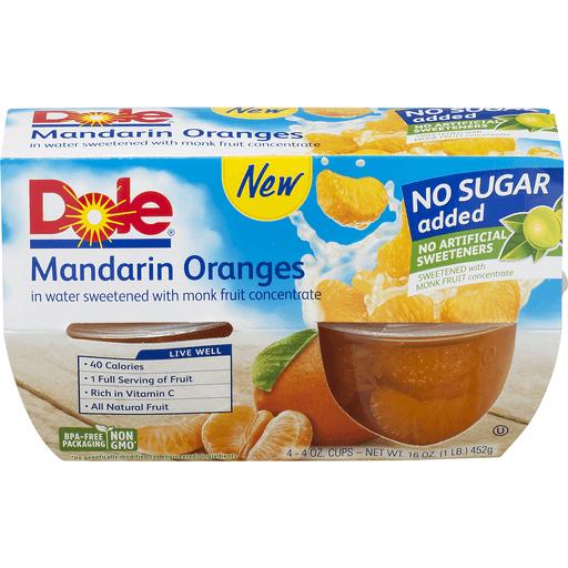 Dole Mandarin Oranges No Sugar Added - 4 CT