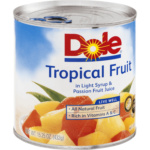 Dole Tropical Fruit, in Light Syrup & Passion Fruit Juice