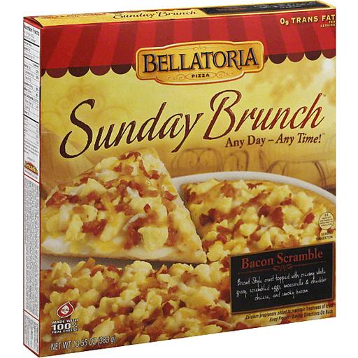 Bellatoria Sunday Brunch Pizza, Bacon Scramble