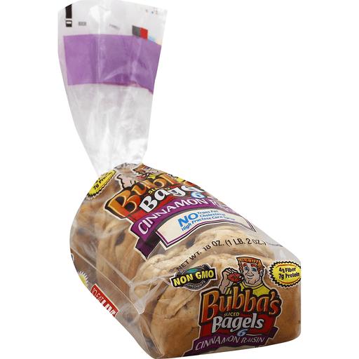 Bubbas Bagels, Cinnamon Raisin, Sliced