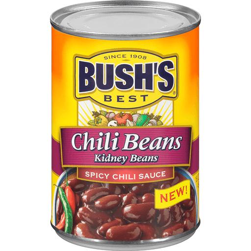 Bushs Best Chili Beans, Kidney, Spicy Chili Sauce