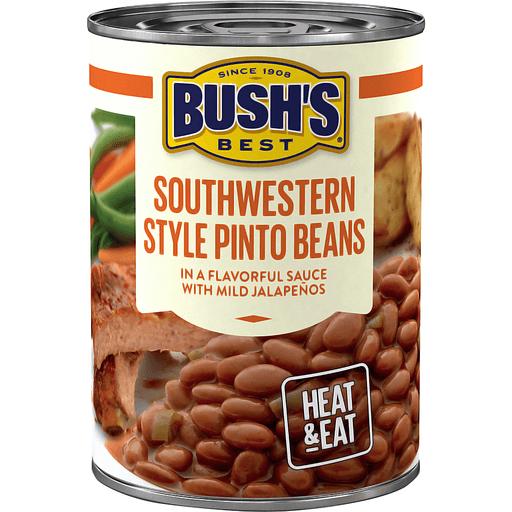 Bush's Best® Southwestern Style Pinto Savory Beans 15.4 oz. Can
