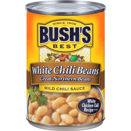 Bush S Best White Chili Beans Mild Chili Sauce Chili Kidney Fairplay Foods