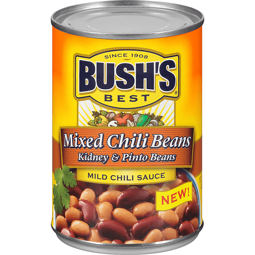 Bushs Best Chili Beans, Mixed, Mild Chili Sauce