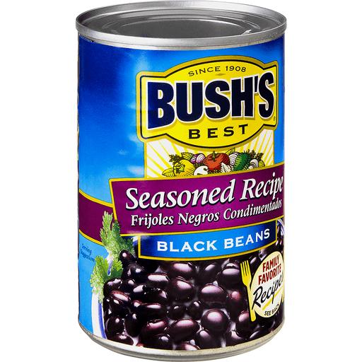 Bushs Best Black Beans, Seasoned Recipe