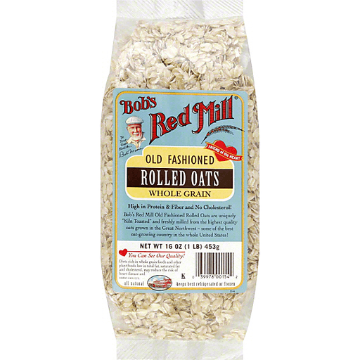 Bobs Red Mill Rolled Oats, Whole Grain