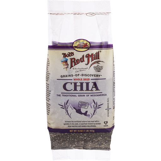 Bobs Red Mill Chia Seeds, Premium, Whole