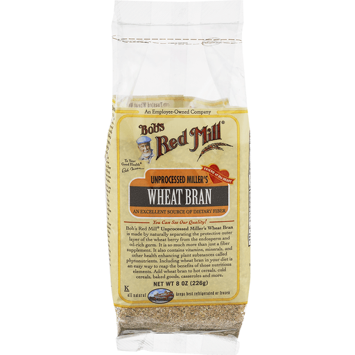Bobs Red Mill Wheat Bran, Unprocessed Miller's