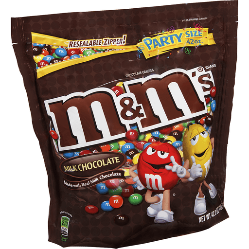 M & M Chocolate Candies, Milk Chocolate, Party Size