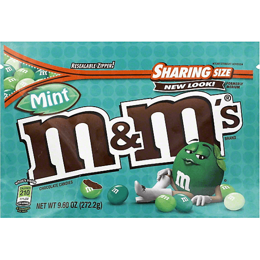 M & M Chocolate Candies, Mint, Sharing Size