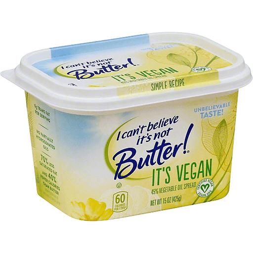 I Can't Believe It's Not Butter! It's Vegan 45% Vegetable Oil Spread