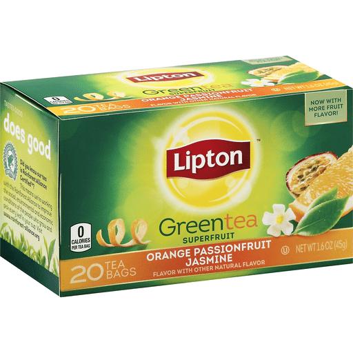 Lipton Green Tea, Orange Passionfruit