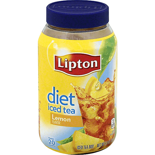 Lipton Diet Lemon Iced Tea Mix | Green
