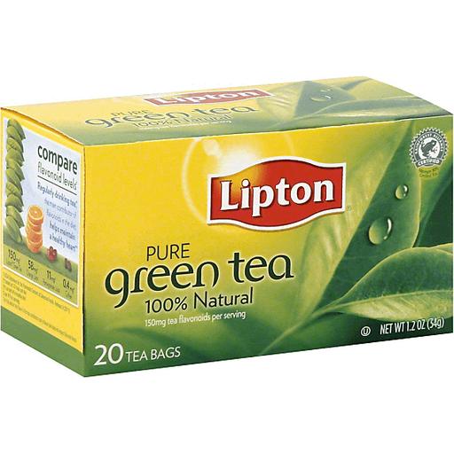 Lipton Pure Green Tea Bags 100% Natural