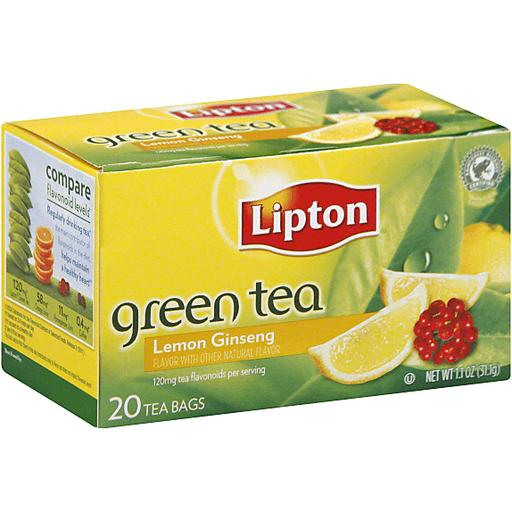 Lipton Greentea Lemon Ginseng - 20 CT