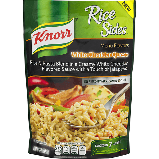 Knorr Rice Sides Rice & Pasta Blend, White Cheddar Queso