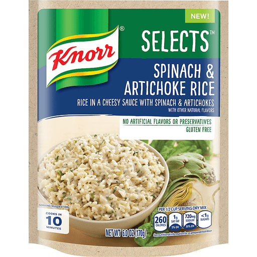 Knorr Selects Rice, Spinach & Artichoke