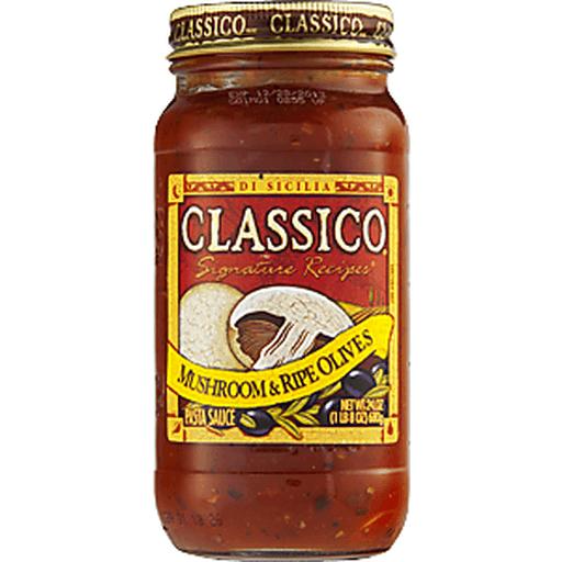 Classico Pasta Sauce Signature Recipes Mushroom & Ripe Olives