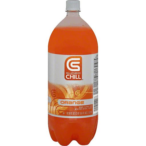 Super Chill Soda, Orange, Caffeine Free