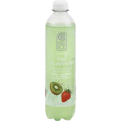Super Chill Ice Sparkling Water Beverage, Kiwi Strawberry
