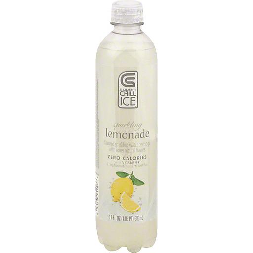 Super Chill Ice Flavored Sparkling Water Beverage, Zero Calorie, Lemonade