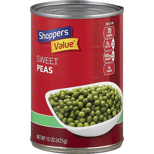 Shoppers Value Peas, Sweet