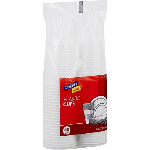 Shoppers Value Plastic Cups, 16 fl oz