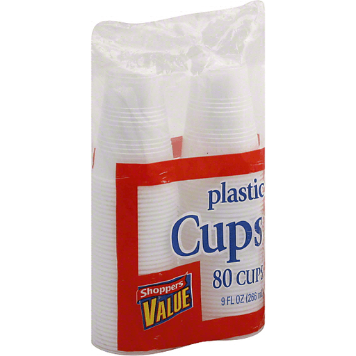 Shoppers Value Plastic Cups, 9 fl oz (266 ml)