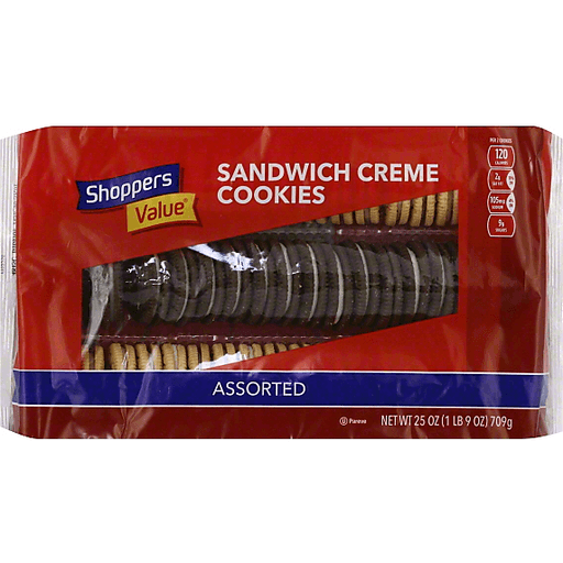 Shoppers Value Cookies, Sandwich Creme, Assorted