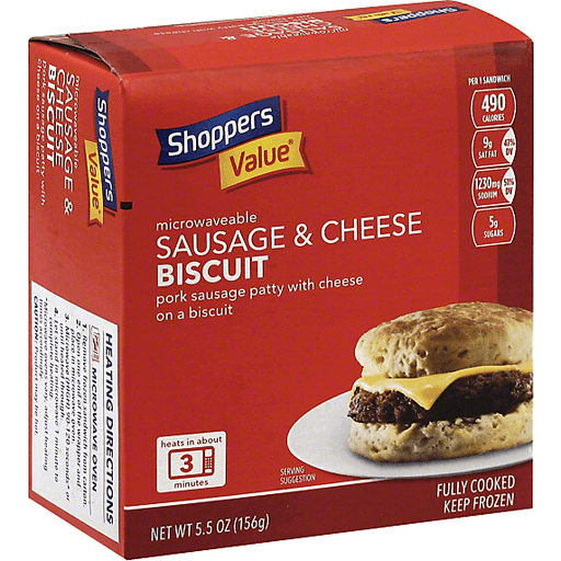 Shoppers Value Biscuit, Sausage & Cheese