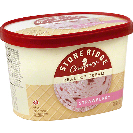 Stone Ridge Creamery Ice Cream, Real, Strawberry