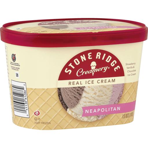 Stone Ridge Creamery Ice Cream, Real, Neapolitan