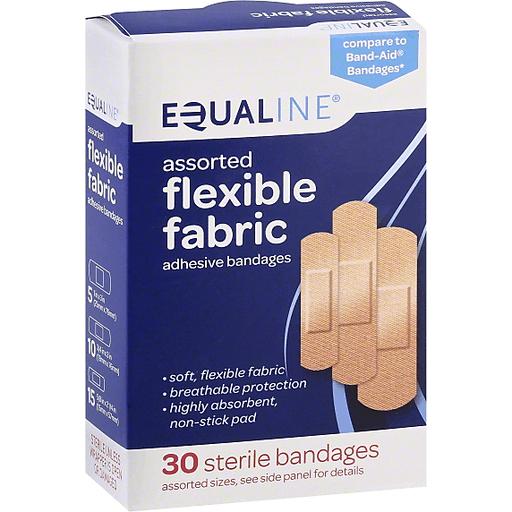 Equaline Bandages, Adhesive, Flexible Fabric, Assorted Sizes